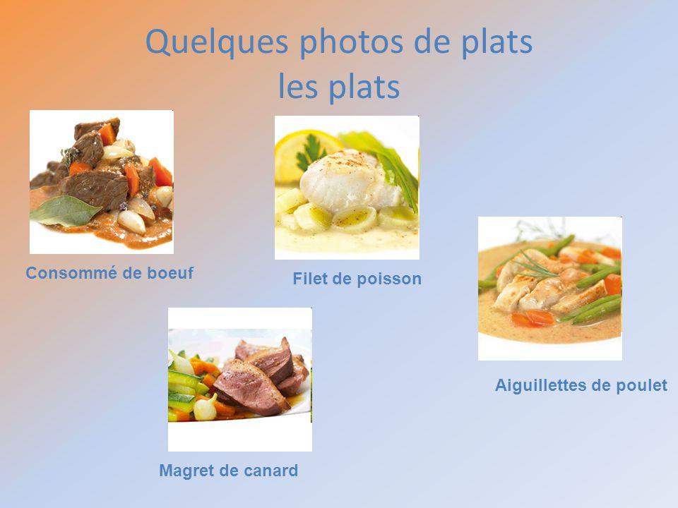 Quelques photos de plats les plats