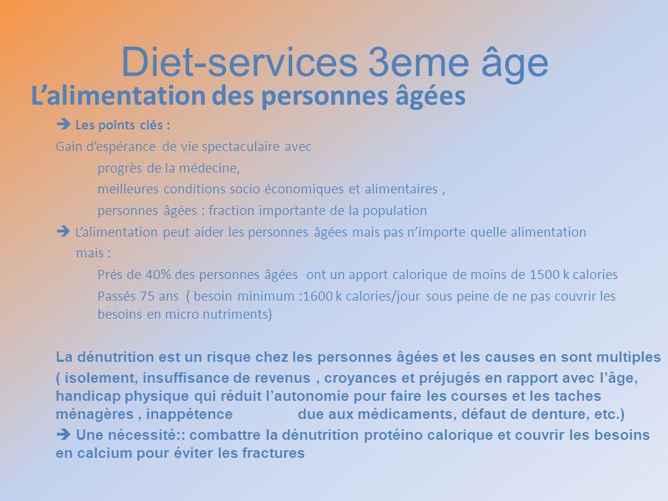 Diet-services 3eme âge L'alimentation des personnes âgées