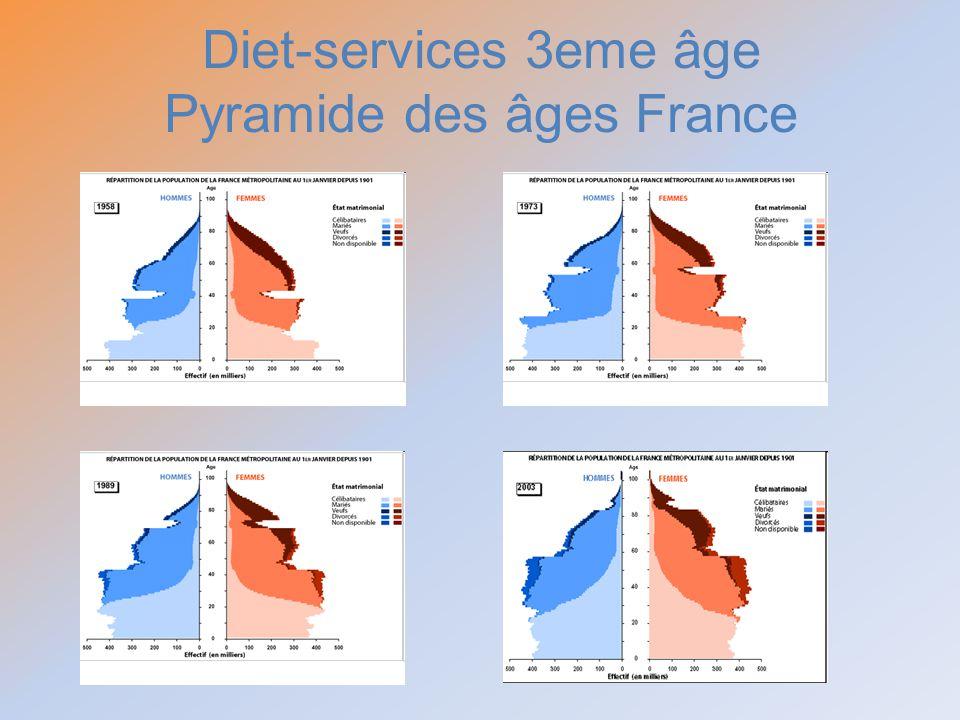 Diet-services 3eme âge Pyramide des âges France