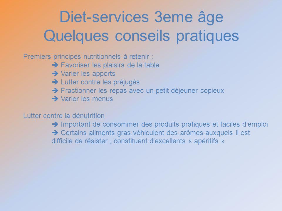 Diet-services 3eme âge Quelques conseils pratiques