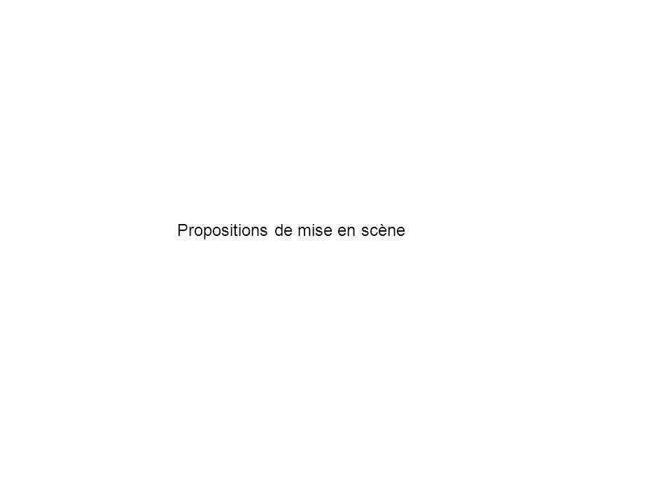 Propositions de mise en scène