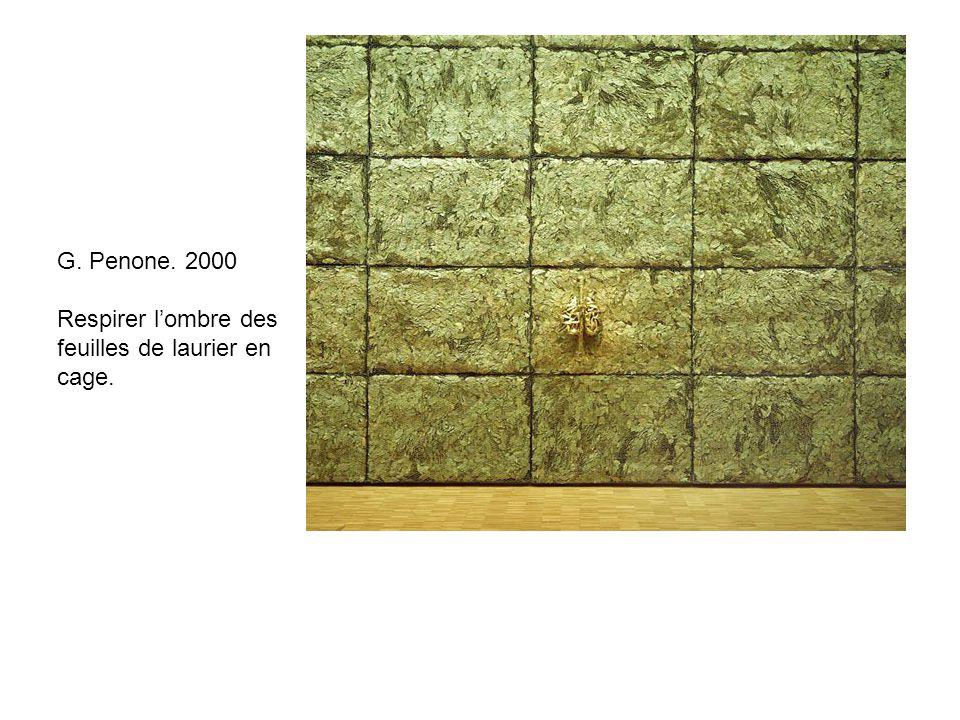 G. Penone. 2000 Respirer l'ombre des feuilles de laurier en cage.