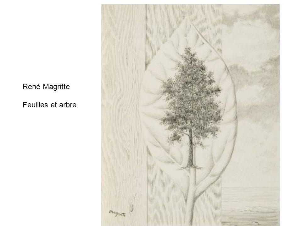 René Magritte Feuilles et arbre
