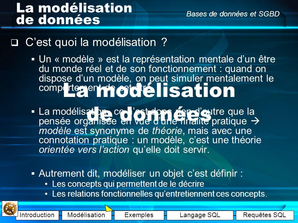 La modélisation de données