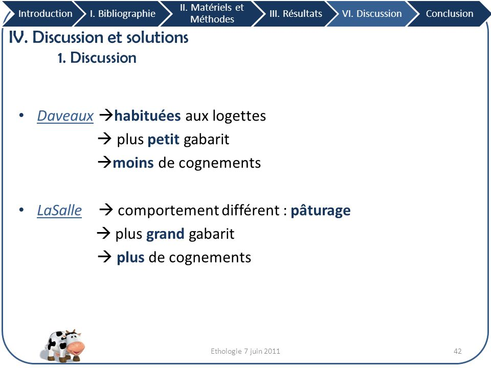 IV. Discussion et solutions 1. Discussion