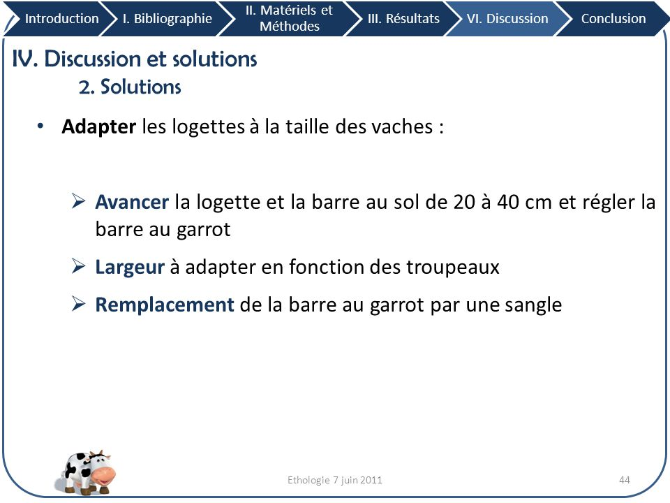 IV. Discussion et solutions 2. Solutions