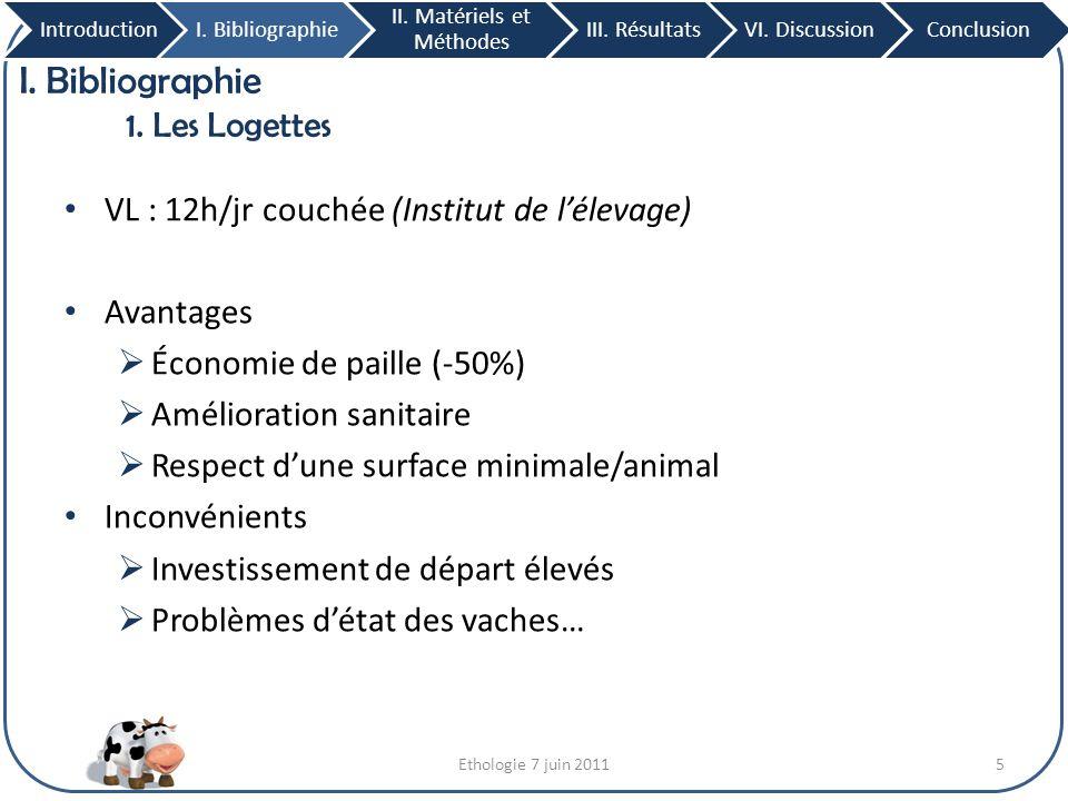 I. Bibliographie 1. Les Logettes