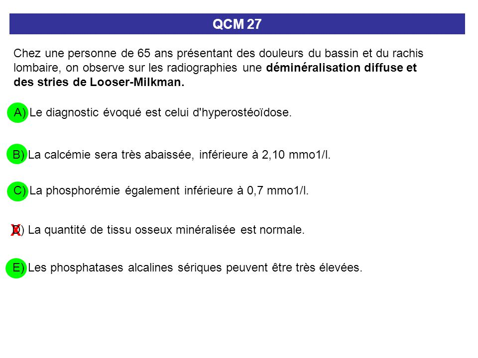 QCM 27
