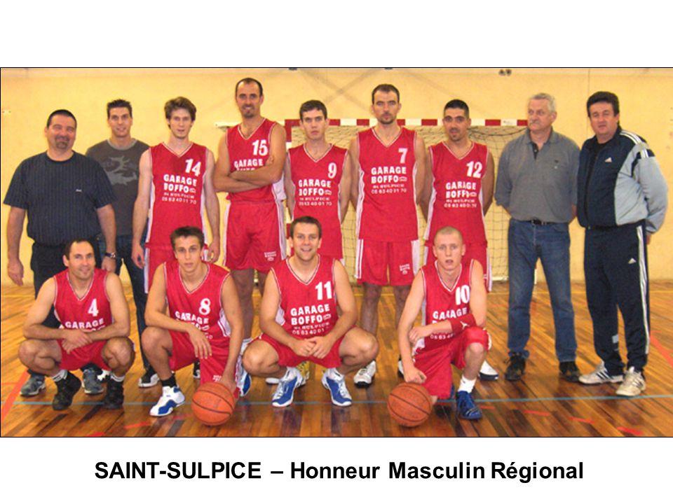 SAINT-SULPICE – Honneur Masculin Régional