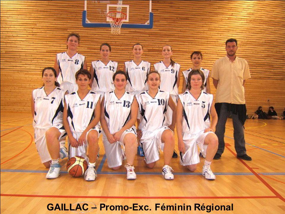 GAILLAC – Promo-Exc. Féminin Régional