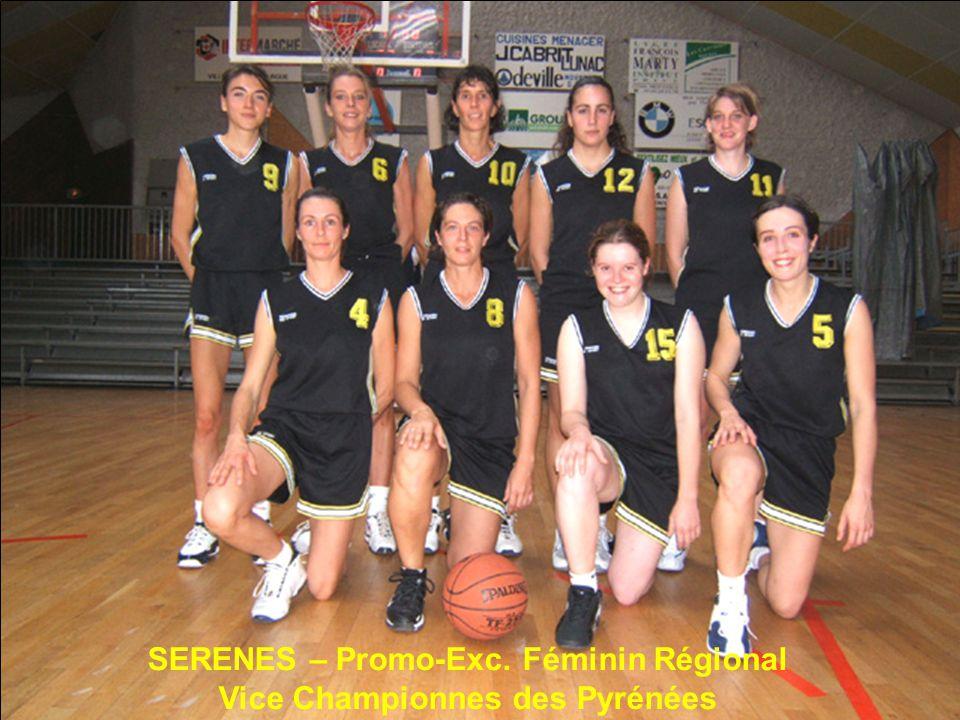 SERENES – Promo-Exc. Féminin Régional Vice Championnes des Pyrénées