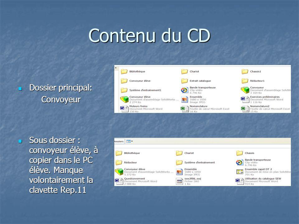 Contenu du CD Dossier principal: Convoyeur