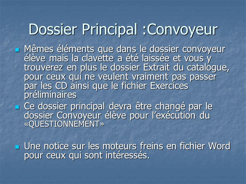 Dossier Principal :Convoyeur