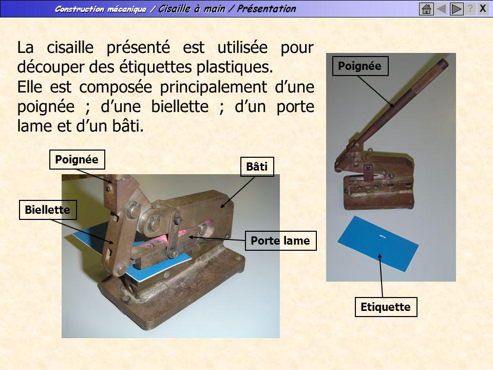 La cisaille présenté est utilisée pour découper des étiquettes plastiques.