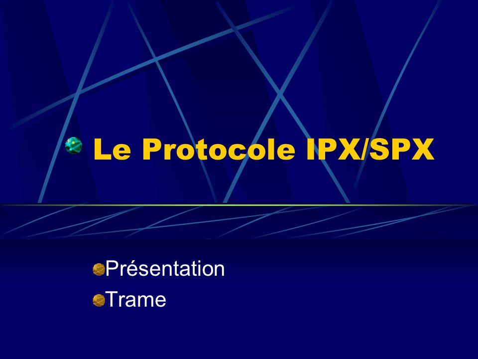 Le Protocole IPX/SPX Présentation Trame