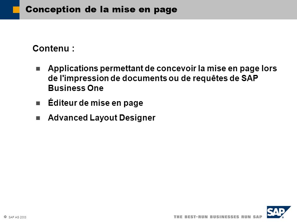 Conception de la mise en page