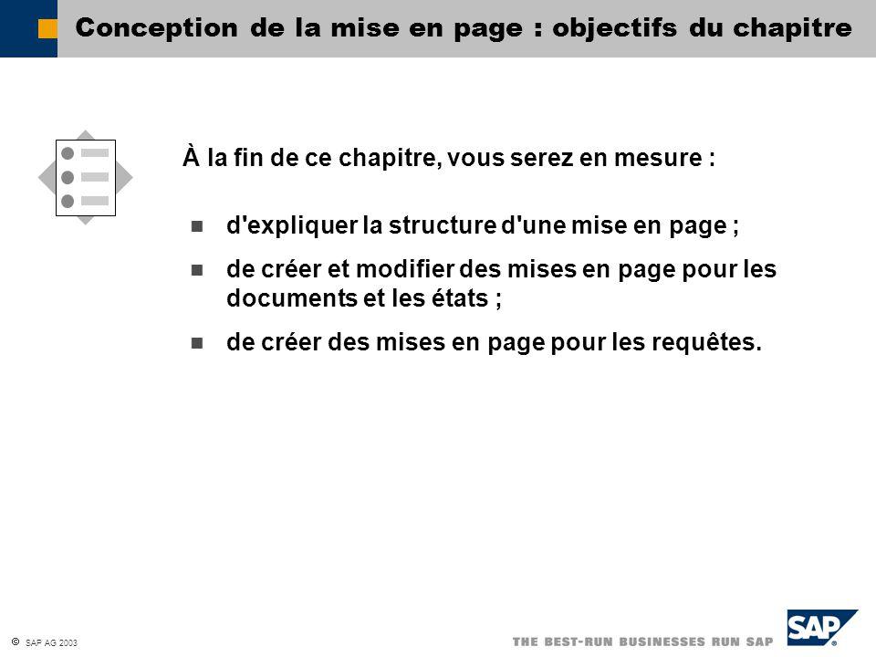 Conception de la mise en page : objectifs du chapitre