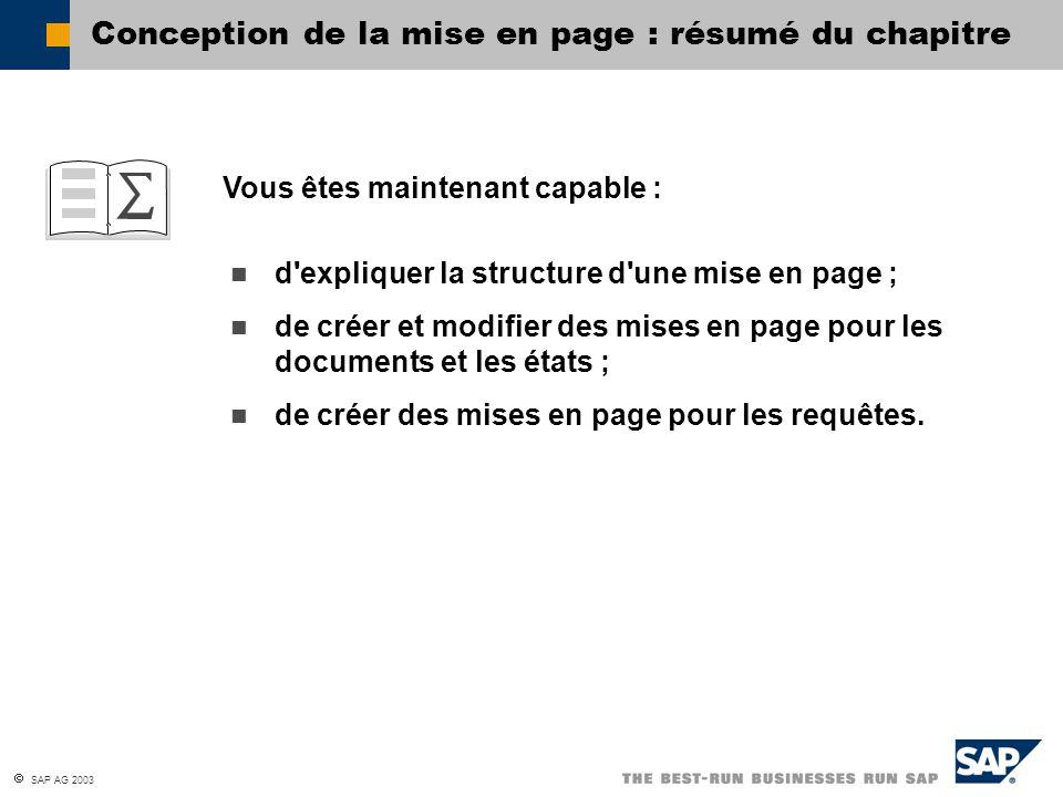 Conception de la mise en page : résumé du chapitre