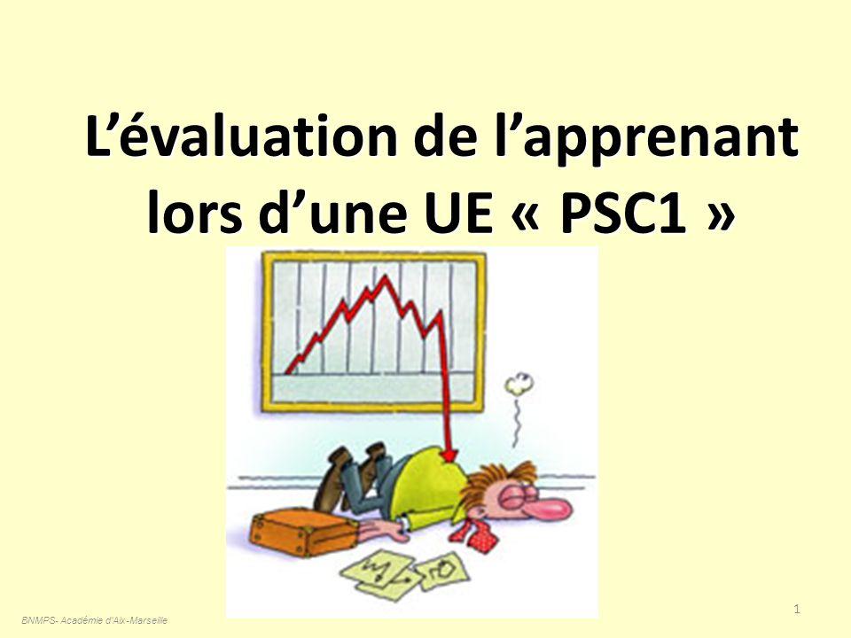 L'évaluation de l'apprenant lors d'une UE « PSC1 »
