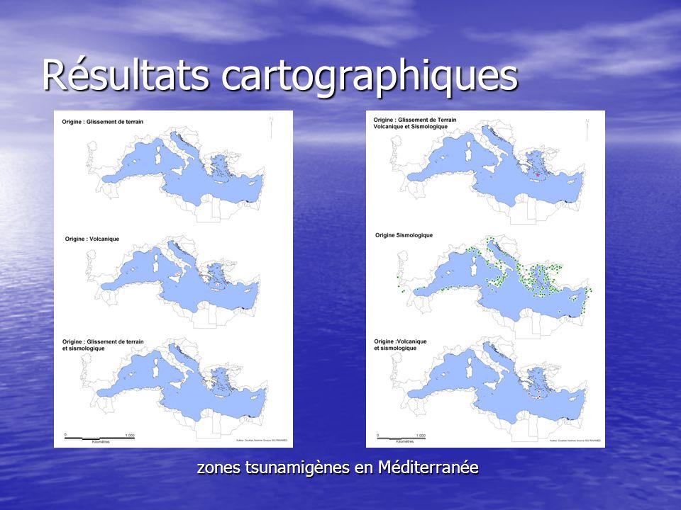 Résultats cartographiques
