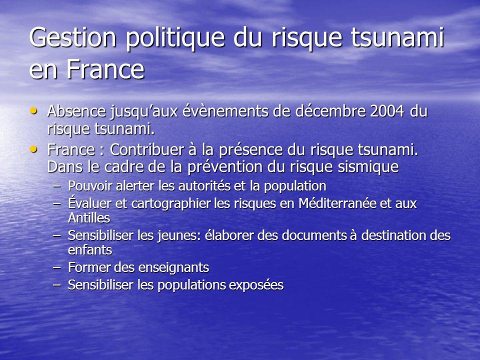 Gestion politique du risque tsunami en France