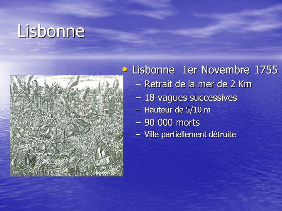 Lisbonne Lisbonne 1er Novembre 1755 Retrait de la mer de 2 Km