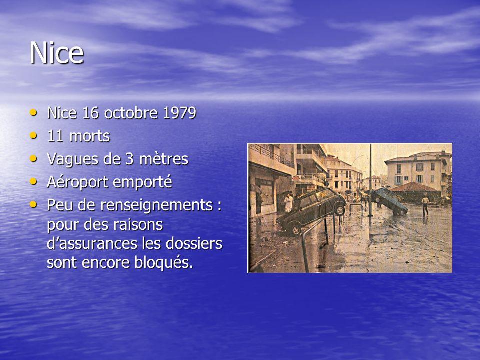 Nice Nice 16 octobre 1979 11 morts Vagues de 3 mètres Aéroport emporté