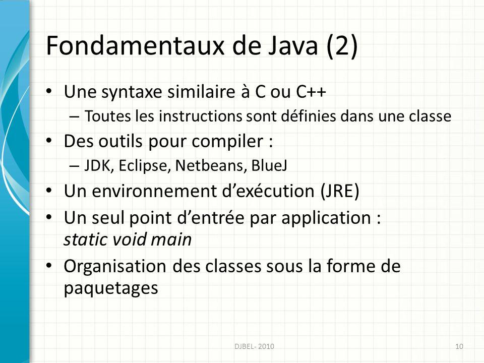 Fondamentaux de Java (2)