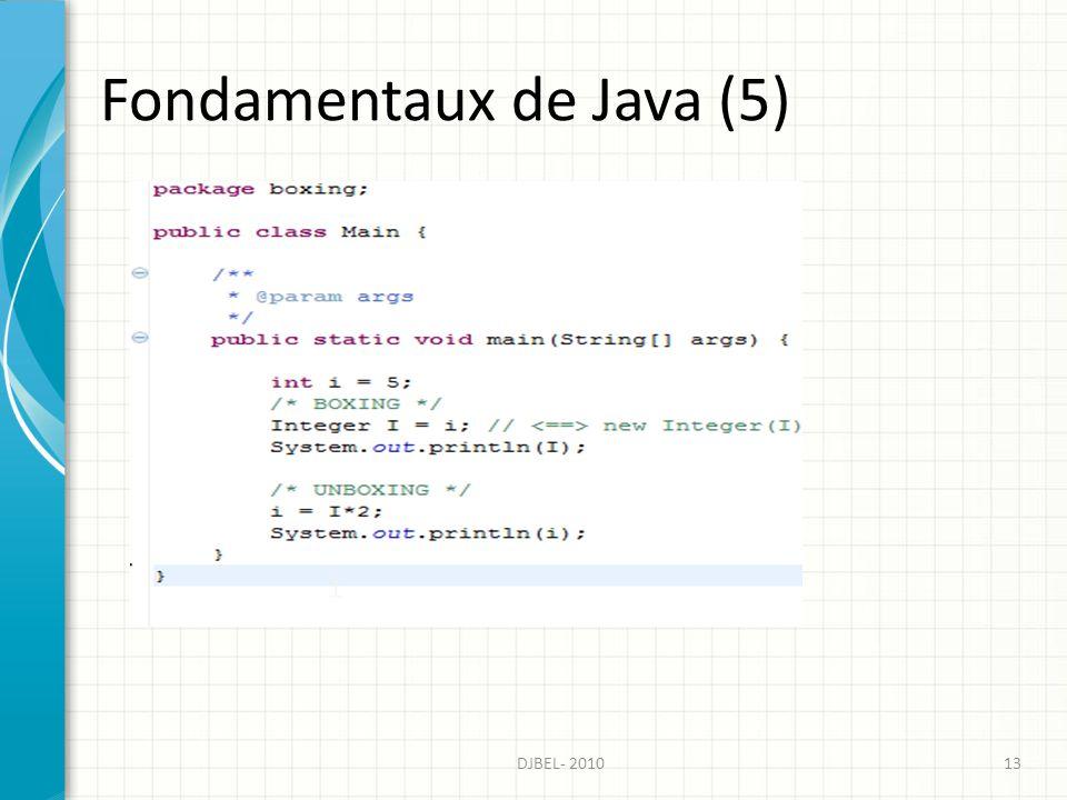 Fondamentaux de Java (5)