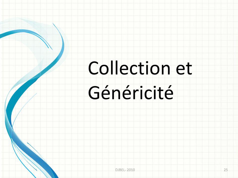Collection et Généricité