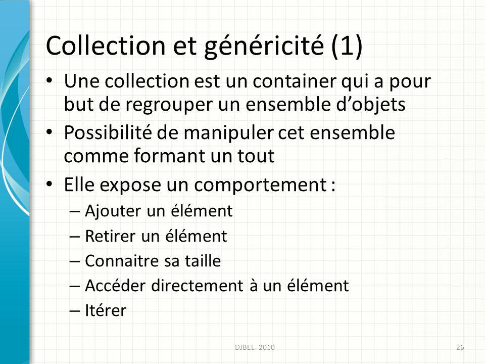 Collection et généricité (1)