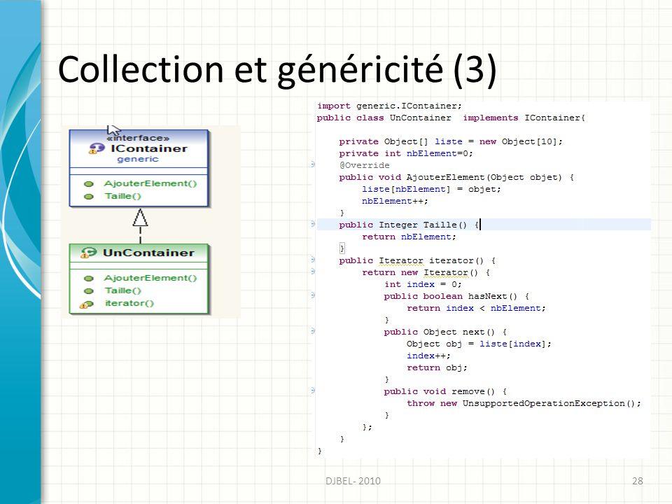 Collection et généricité (3)