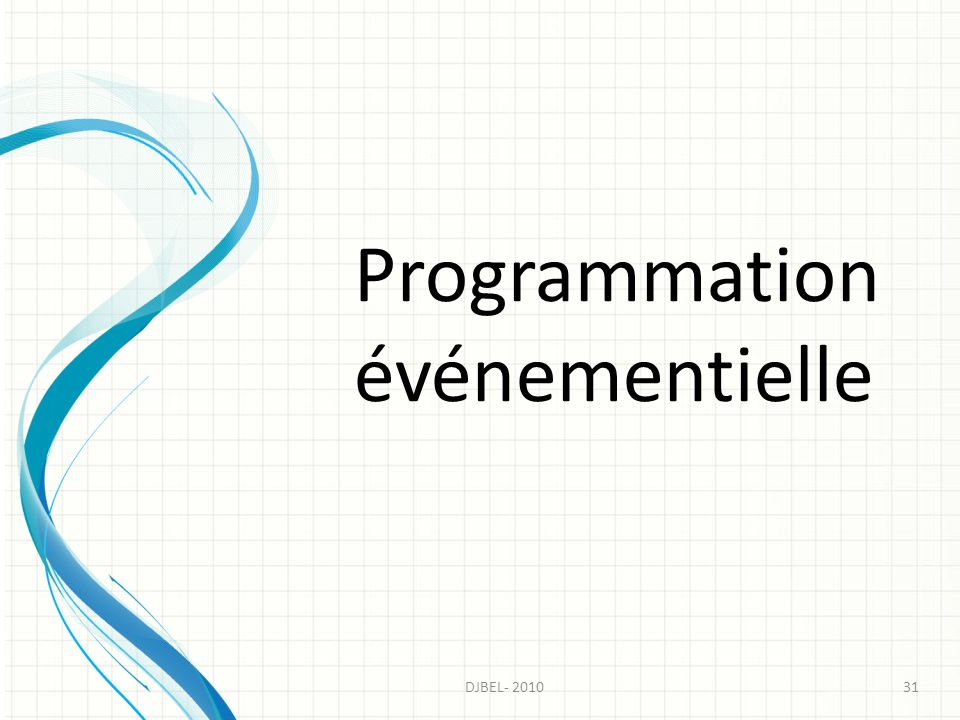 Programmation événementielle
