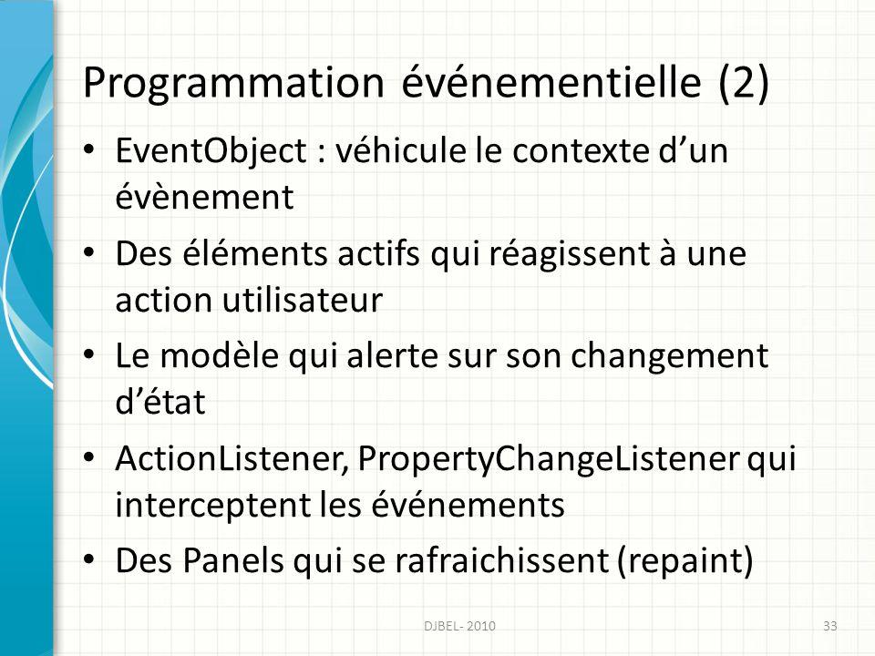 Programmation événementielle (2)