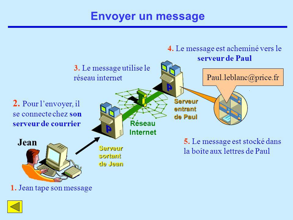 4. Le message est acheminé vers le serveur de Paul