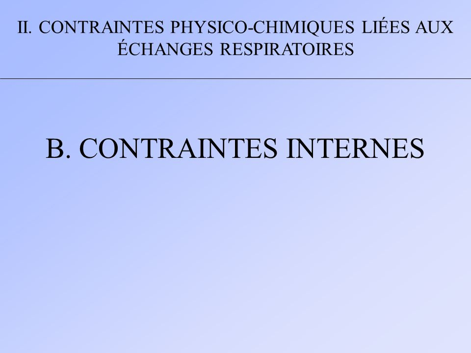 B. CONTRAINTES INTERNES