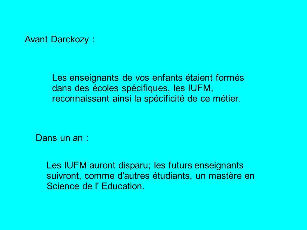 Avant Darckozy :