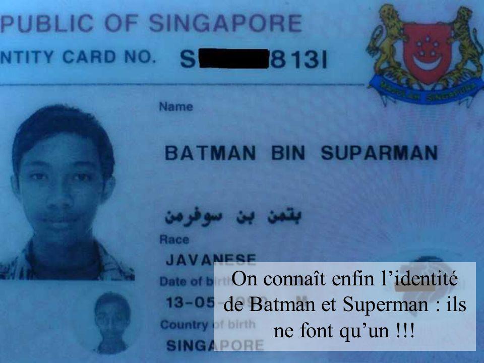 On connaît enfin l'identité de Batman et Superman : ils ne font qu'un !!!