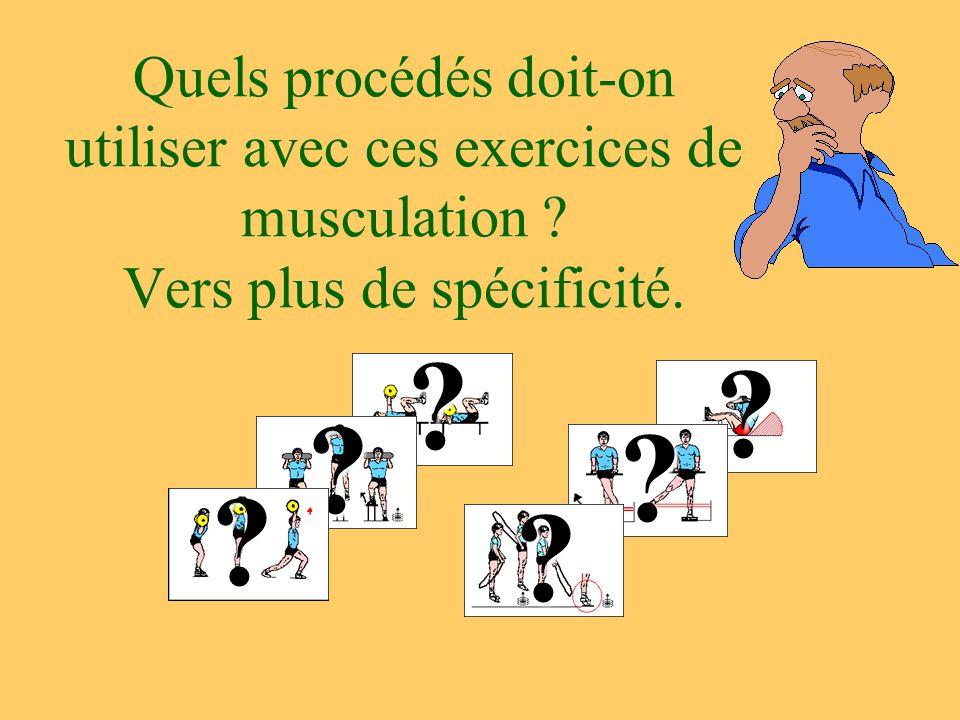Quels procédés doit-on utiliser avec ces exercices de musculation