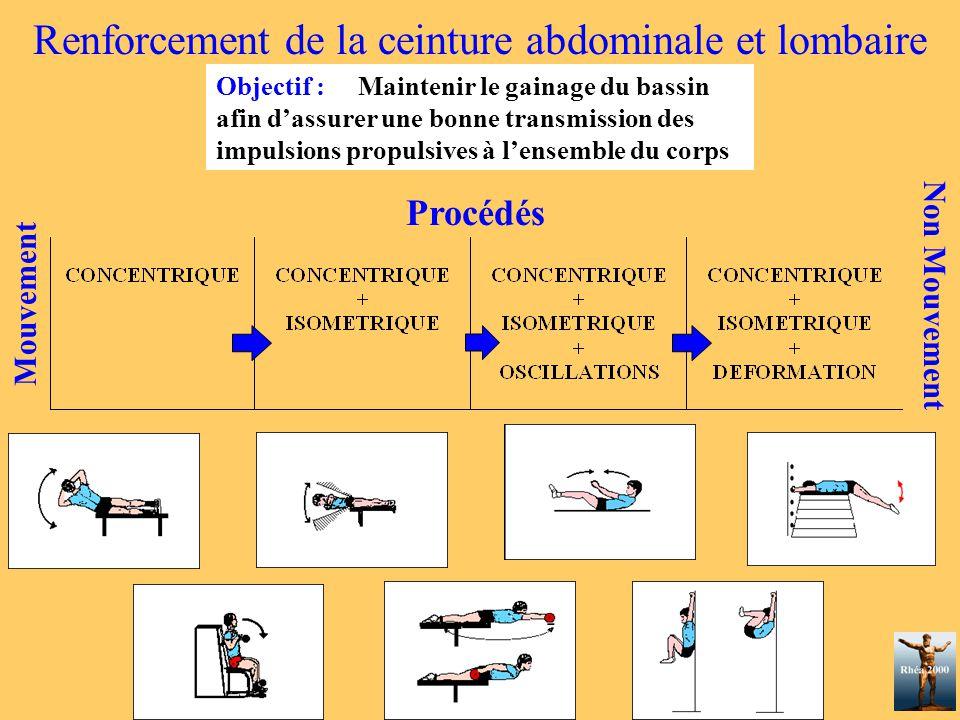 Renforcement de la ceinture abdominale et lombaire