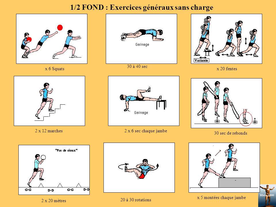 1/2 FOND : Exercices généraux sans charge