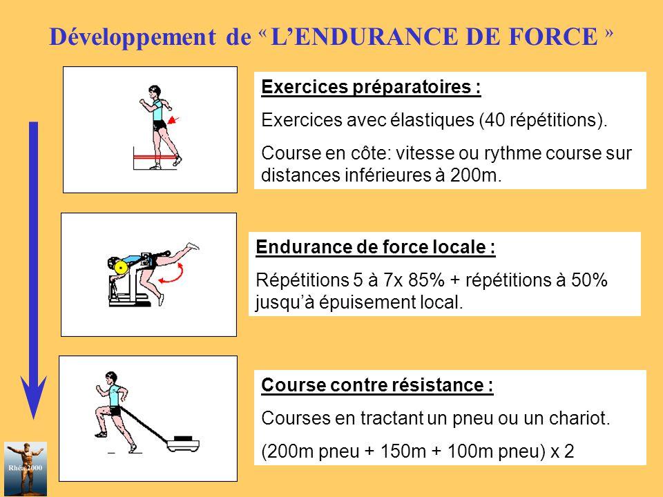 Développement de « L'ENDURANCE DE FORCE »