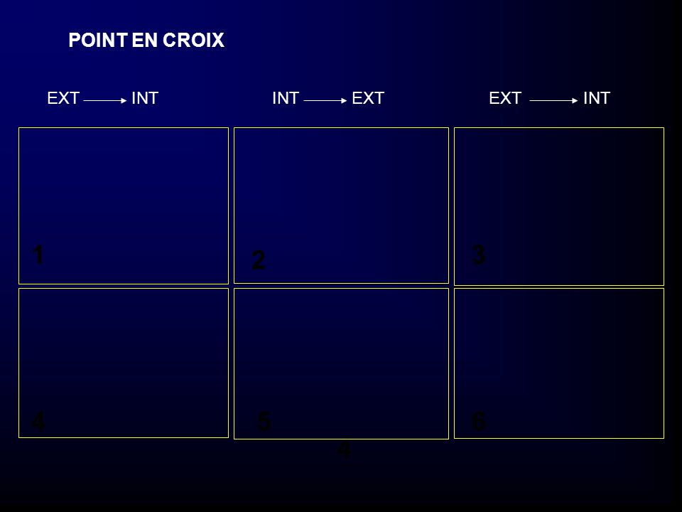 POINT EN CROIX EXT INT INT EXT EXT INT.
