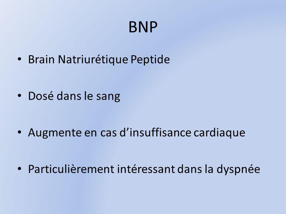 BNP Brain Natriurétique Peptide Dosé dans le sang