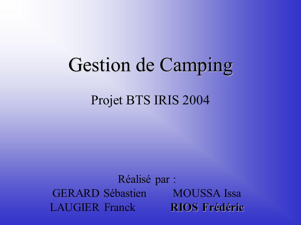 Gestion de Camping Projet BTS IRIS 2004