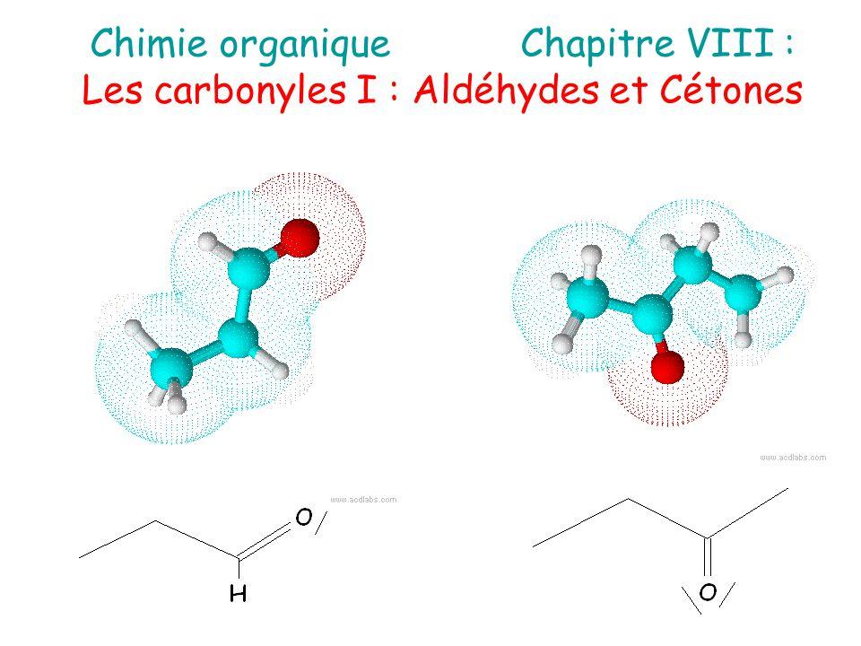 Chimie organique Chapitre VIII :