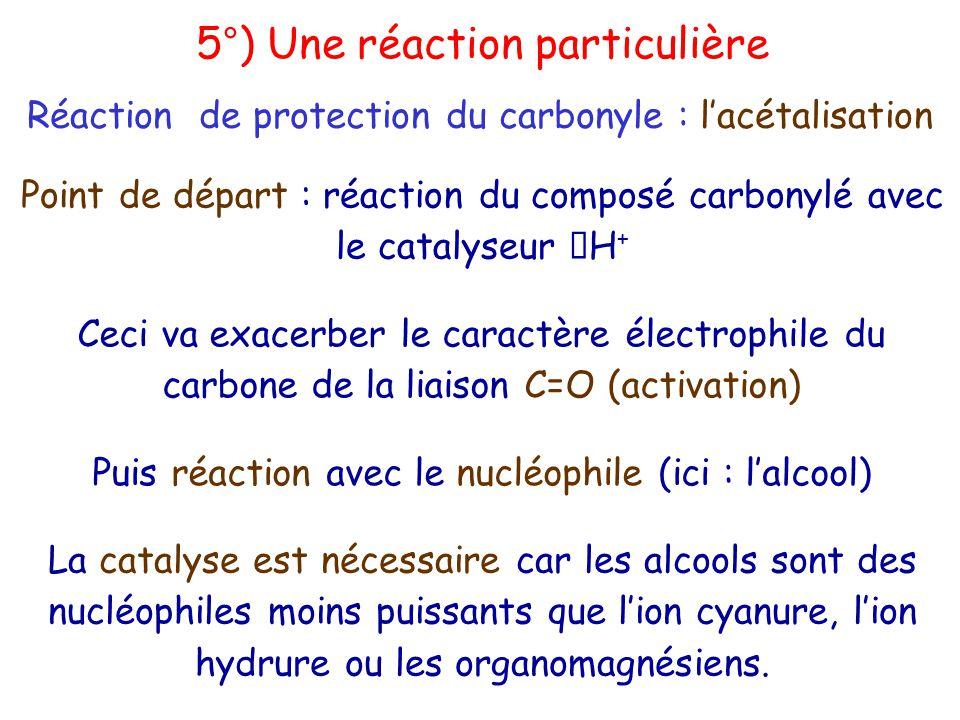 5°) Une réaction particulière