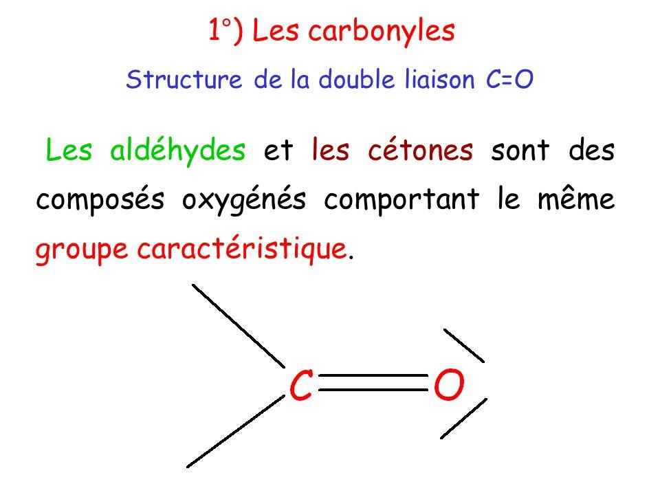Structure de la double liaison C=O