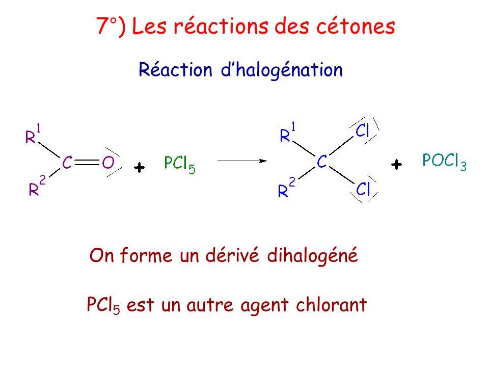 7°) Les réactions des cétones