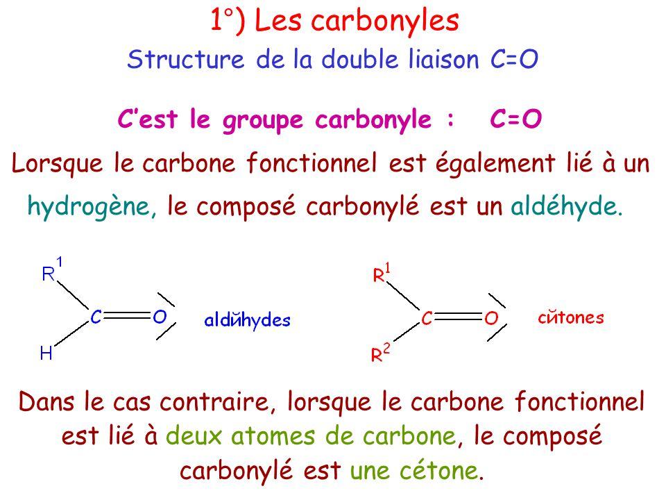 C'est le groupe carbonyle : C=O